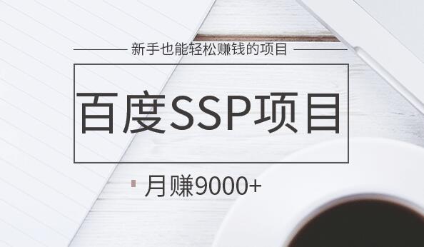 百度SSP项目熟练操作月赚9k