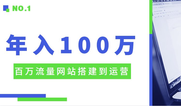 百万流量网站搭建到运营,年入100W级别