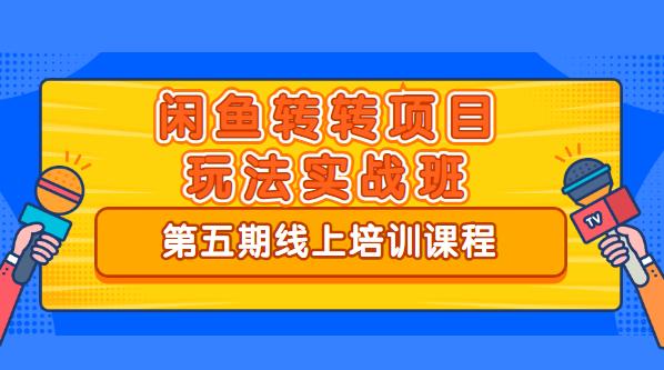 宅男《闲鱼转转项目玩法实战班 》线上第五期