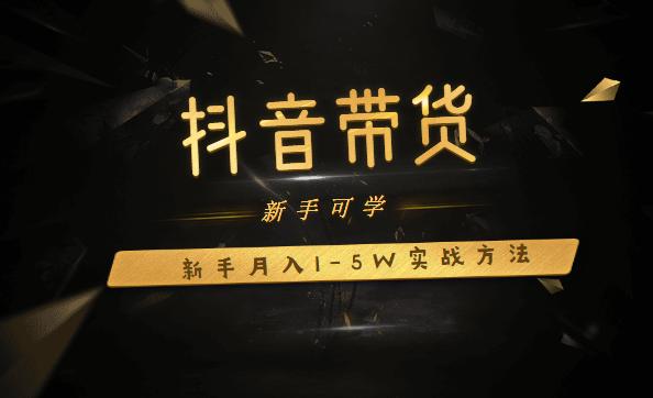 抖音带货:新手月入1-5W实战方法