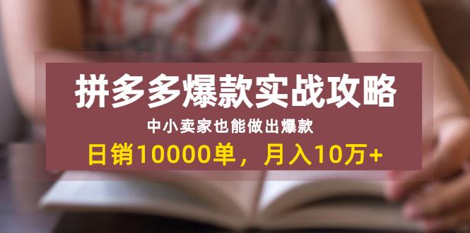 拼多多爆款实战攻略:中小卖家也能做出爆款,日销10000单